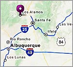 map al;buquerque to los alamos